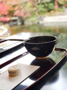 神嶽山神苑の茶屋で頂いたお茶