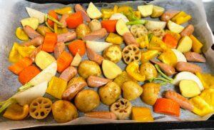 ヘルシオで作るごろごろ野菜焼き(焼く前)